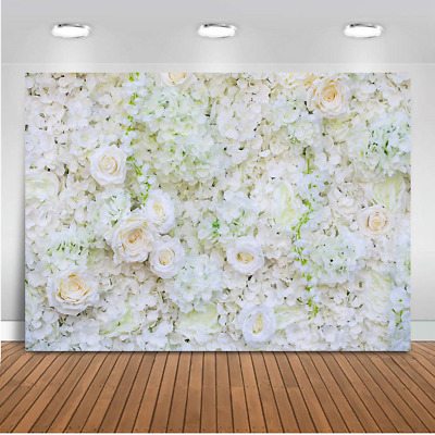 Mehofoto Flower Backdrop White Rose Bridal Shower Newborn Baby Photo Booth...