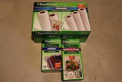 Genuine FoodSaver Combo Pack 8 x 20-inch and 11 x 16-inch Heat-seal Rolls lot