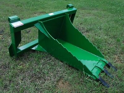 John Deere Tractor Loader Stump Bucket Dig Ditch Spade Attachment - Free ship
