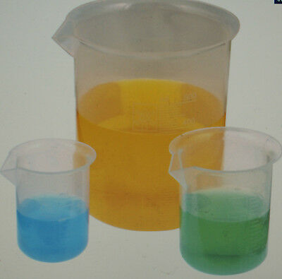 Polypropylene Beaker full set Measuring Squat 50ml 100ml 250ml 500ml 1000ml