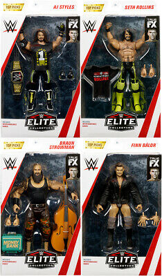"WWE Elite ""Top Talent 2019"" - Complete Set of 4 Mattel Wrestling Action Figures"