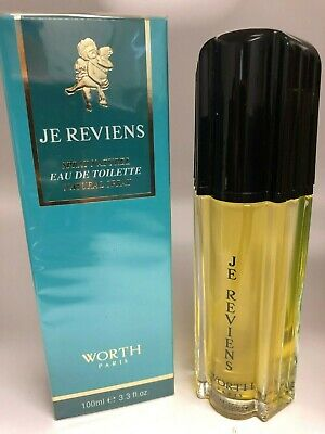 *ORIGINAL 2007 'S * JE REVIENS by WORTH PARIS 3.3 oz / 100 ML EDT Spray Sealed