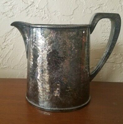 Vintage Derby S.p. Co International Silver Water Pitcher #2090