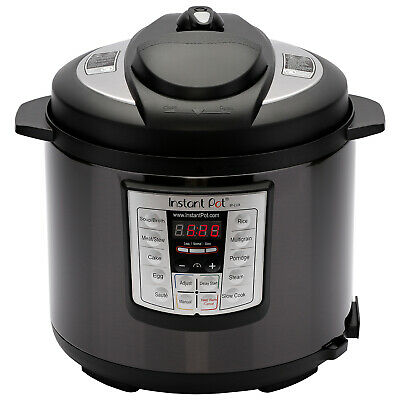 NEW Instant Pot 6 in 1 Programmable Pressure Cooker 6 Quart Lux ss 60 Black