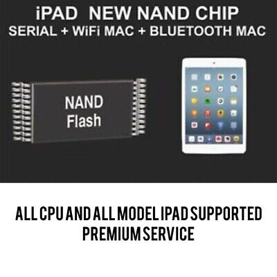 New Nand Chip Data, Serial Number, WiFi Mac, Bluetooth Mac, ALL IPAD SUPPORTED