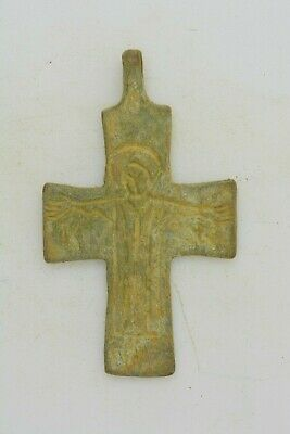 Byzantine bronze cross Jesus Christ crucified inscription IC XC 10th century AD