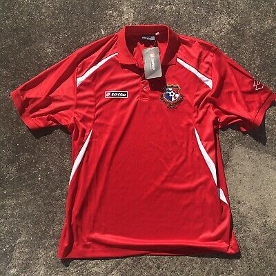 d6ec921249a PANAMA NATIONAL SOCCER Team RED Authentic LOTTO Jersey Adult LARGE Sz XL NWT