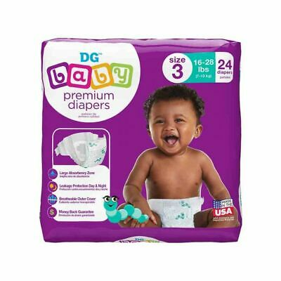 *NEW* DG Diapers - Size 3 (24 Count) *GREAT QUALITY* (X2 Lot)