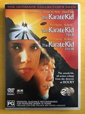 The Karate Kid Trilogy Part 1, 2, and 3 The Ultimate Collector's Pack DVD