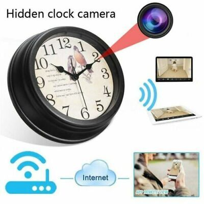 Wireless 1080P WIFI Full HD Hidden IP Camera DVR Wall Clock Real-Time Came