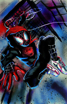 30-193 Spiderverse Miles Morales Shadow Spiderman Window vinyl decal Marvel