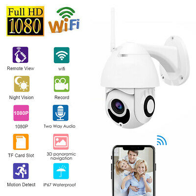 WiFi 1080P Home Security IP Camera Night Vision In/Outdoor Wireless IR Pan/Tilt