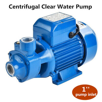 1/2HP Centrifugal Clear Water Pump Clean Pool Pond Farm 1'' Inlet&Outlet 2100L/H