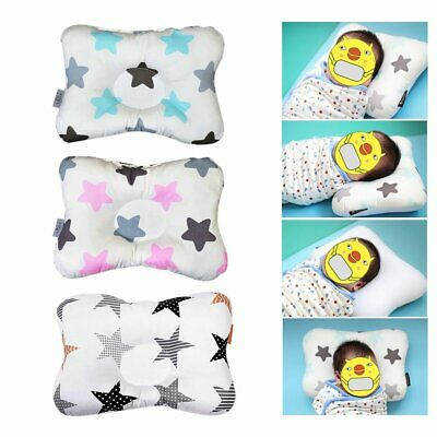Baby Infant Newborn Prevent Flat Head Neck Support Positioner Square Pillow LE