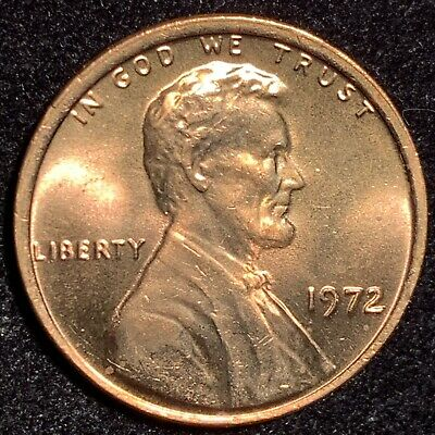 1972 Lincoln Cent Double Die Obverse Gorgeous 72 Ddo Gem Rare Bu +++++++++++ $$$