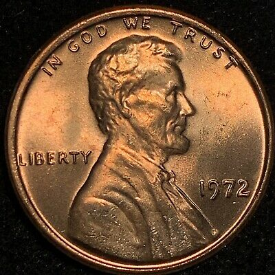 1972 Lincoln Cent Double Die Obverse Gorgeous 72 Ddo Rare Gem Bu +++ A Beauty !!