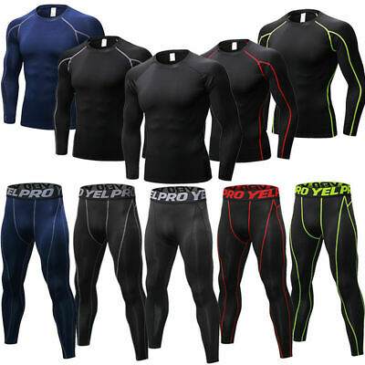 Men's Compression Athletic Running Tights Dri-fit Base Layers Sportswear Spandex
