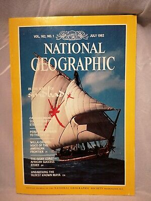 Vintage July 1982 National Geographic Magazine VOL. 161, NO. 4 back issue