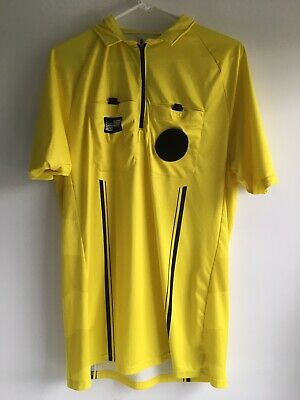 cf3611c5cba USSF OSI Pro Soccer Referee Official Sports Jersey Short Sleeve Yellow Shirt