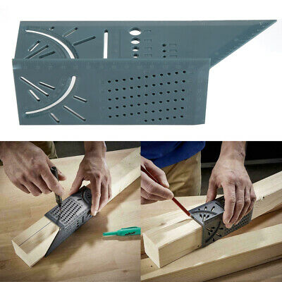 Woodworking Ruler 3D Mitre Angle Measuring Gauge Square Size Measure Tool US