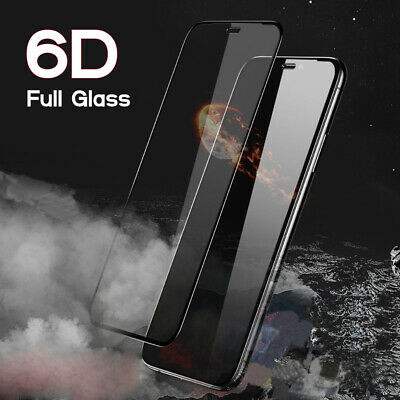 Screen Protector for iPhone XR,XS,XS MAX 9H 6D Full Cover Gorilla Tempered Glass