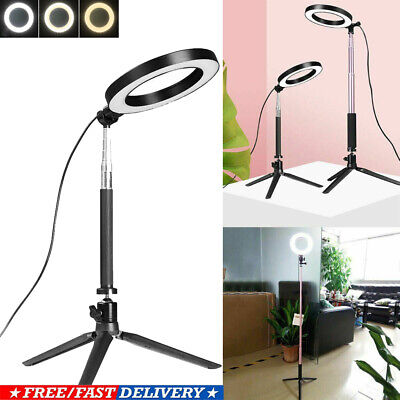 "6"" LED Ring Light with Tripod Stand Phone Holder for Selfie Video Photography US"