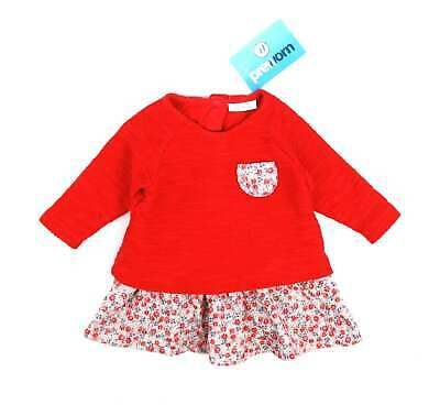 Next Baby Girls Red Floral Sweet Little Jumper Dress Age 0-3m