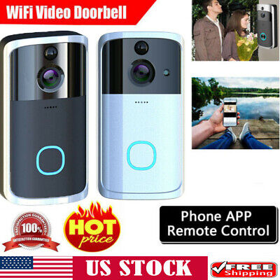 US Smart Wireless WiFi Video Door Bell IR Visual Camera Record Security System