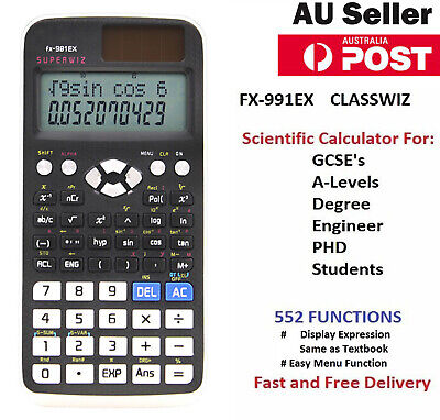 2019 NEW Casio Calculator FX 991 EX Scientific Classwiz 552 function Spreadsheet
