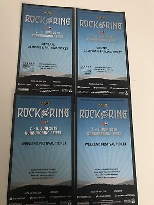 2x ROCK AM RING 2019 Weekend Festival Tickets+General Camping & Parking Tickets