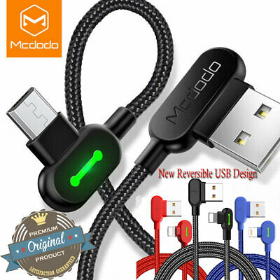 Mcdodo LED Lightning Charger Cable Cord F iPhone Google Pixel 3A Samsung Android