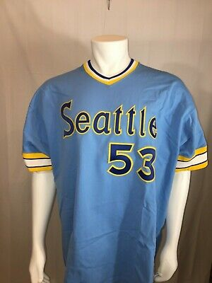 409d440e6 NWT AUTHENTIC Mitchell & Ness Cooperstown Collection Seattle Mariners Jersey  3XL