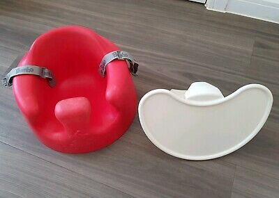 Bumbo Seat Red Baby Support Seat With Safety Straps And Feeding / Play Tray