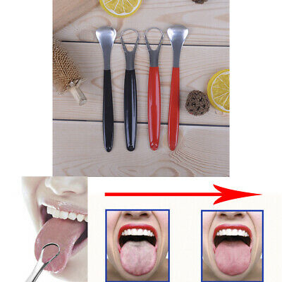 Stainless Steel Tongue Cleaner Scraper Oral Care Bad Breath Health ToolBB
