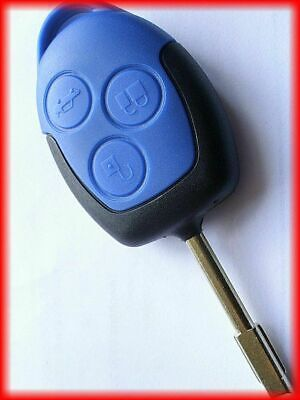 NEW 3 BUTTON BLUE REMOTE KEY FOB, for FORD MK7 TRANSIT 2006-2014