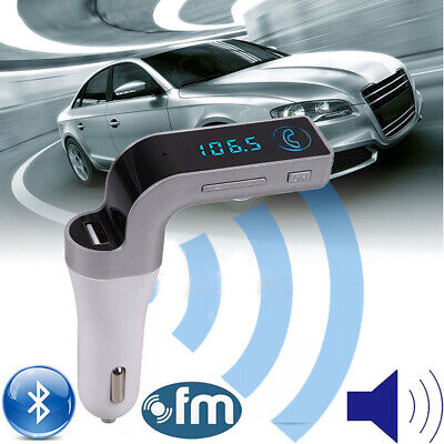 Car Receiver Hands-Free AUX Adapter FM Transmitter Wireless Audio USB Bluetooth