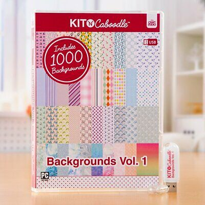 Kit 'n' Caboodle Backgrounds vol 1 1000 backgrounds Papercraft Card making