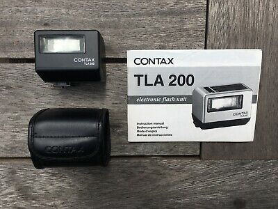 Contax TLA200 - Black - shoe-mount flash for G2 / G1 + case + instructions