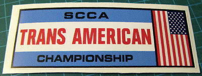 Scca Trans American Championship Vinyl Decal Sticker - Vintage Road Racing-Svra