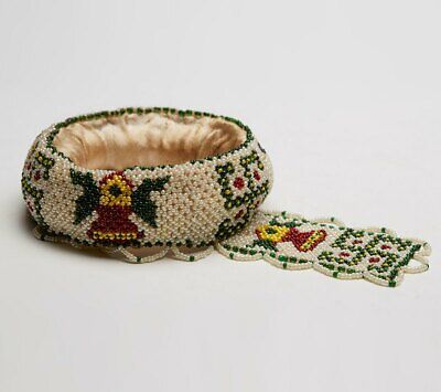 Native American Beaded Head Pot Support Early 20Th C.