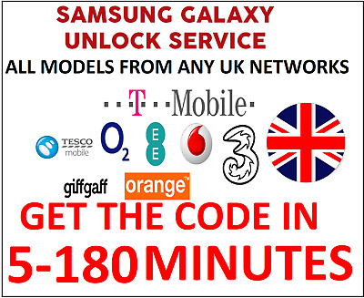 Unlock Code For Samsung Note 9 Note 8 Note 7 Note 5 Ee Vodafone O2 Tesco Uk