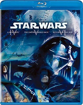 Star Wars Original Trilogy Blu-Ray Collection 3 Disque F/S W / Suivi # Neuf