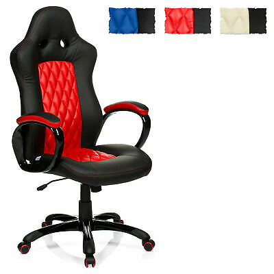Gaming Chair Office Chair PU Leather Backrest RACER EXECUTIVE hjh OFFICE