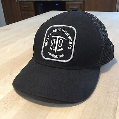aea2e3cf9460b Patagonia Great Pacific Iron Works Kit Trucker Hat - Excellent - Black