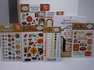 ECHO PARK A PERFECT CHRISTMAS RUB-ONS ENAMEL DOTS BRADS STICKERS NEW A15830