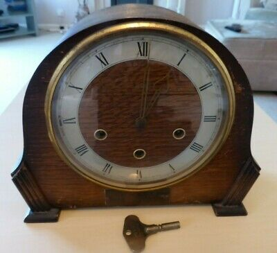 Vintage Smiths, wooden Napoleon hat mantle clock, for repair.