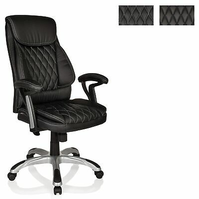 Office Chair Executive Chair Swivel Chair PU Leather black MANERA hjh OFFICE