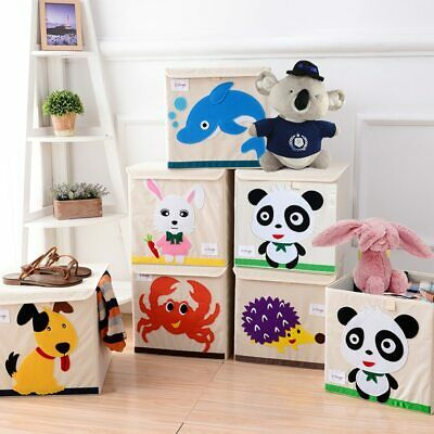 Large Storage Box for kid New cartoon Non-woven fabric Folding Embroider Toys..