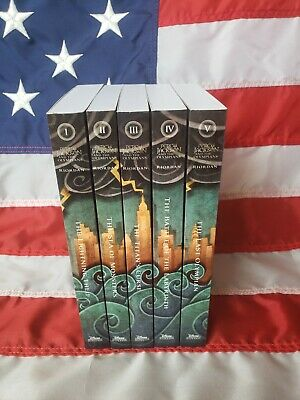 NEW SEALED Percy Jackson & Olympians 6 book box set + poster Riordan Paperback