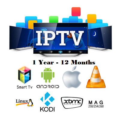 1 Year IPTV Subscription Premium VOD 4K US EU UK Android MAG Smart TV ✨ADULT Ch✨